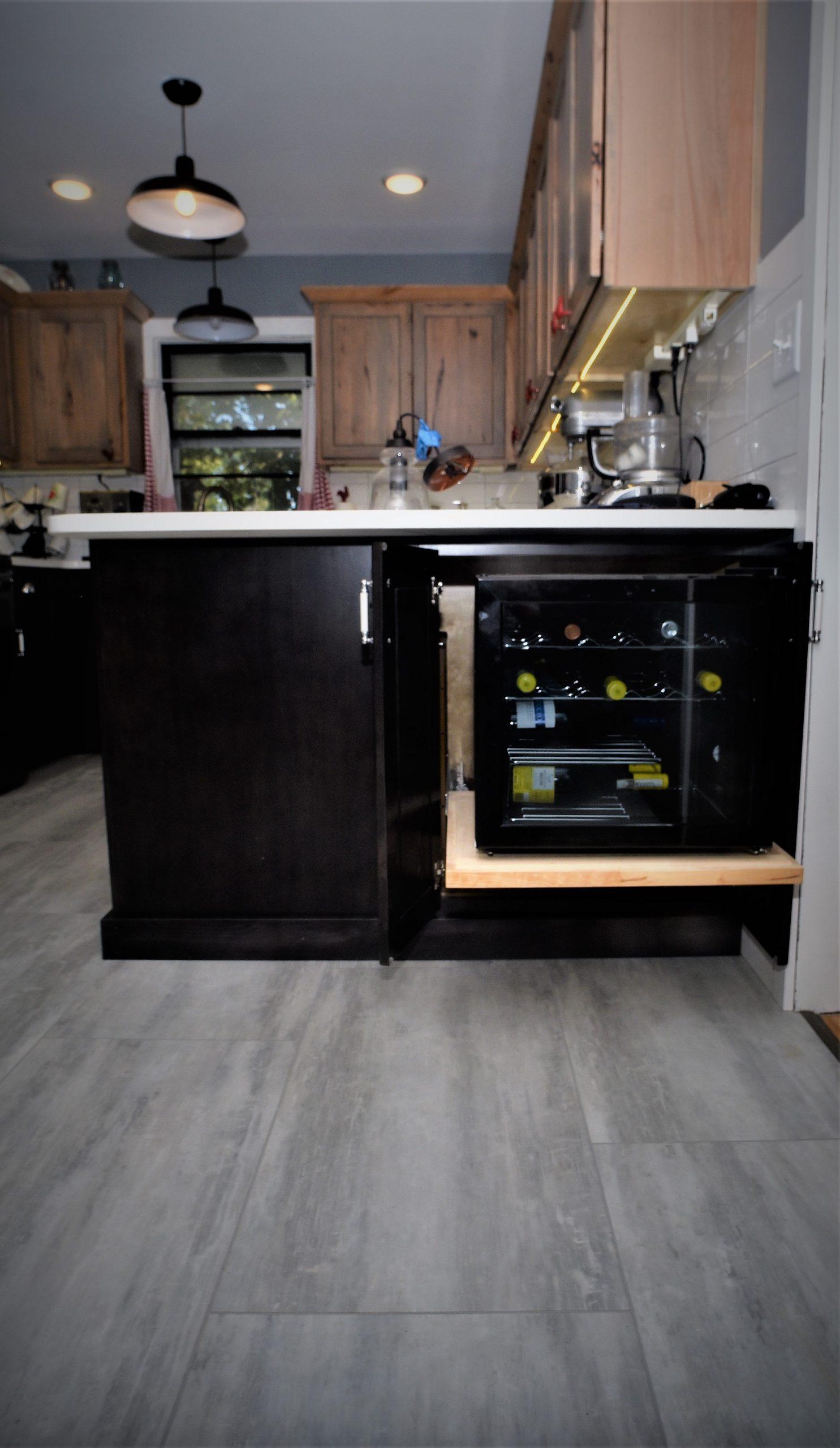 Wine Cab n LVP Flooring